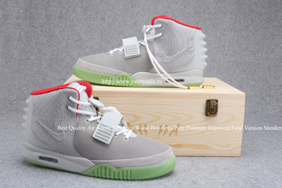 Best Quality Air Yeezy 2 Replica Wood Box Grey/Pure Platinum Improved Final Version AYCL000716 Sneaker