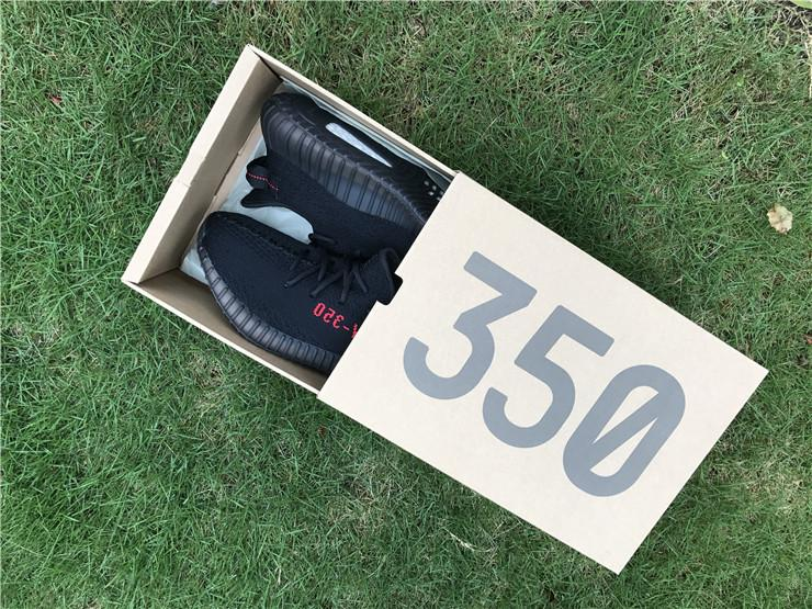 Yeezy Boost 350 V2 Core Black Red Release CP9652 YS Real Boost