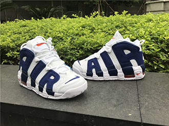Nike Air More Uptempo White Deep Royal Blue Sale
