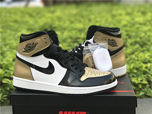 Air Jordan 1 Top 3 Black Golden Sale