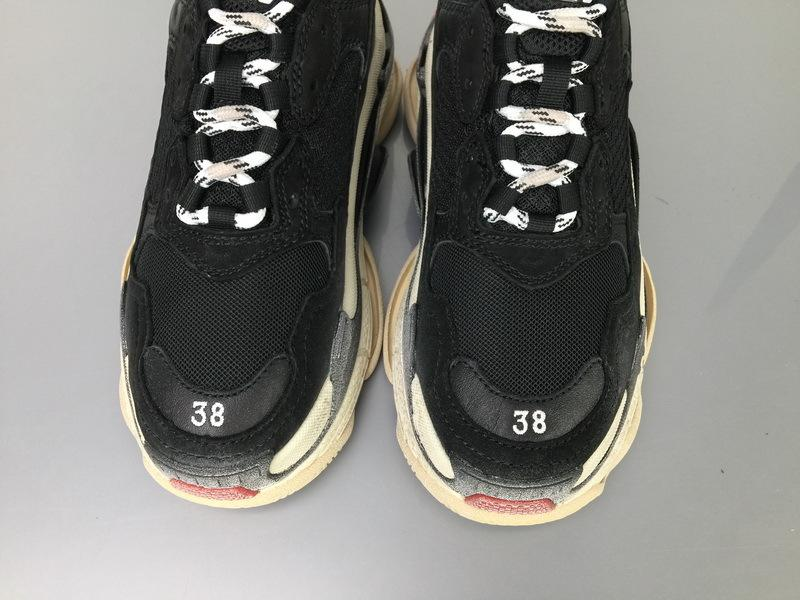 Balenciaga Triple S 656686 W06G01001 Black Red For Sale
