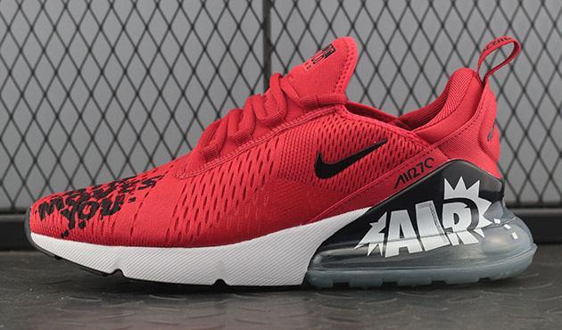 ... Black  run shoes ... NIKE iD Air Max 270 Moves You BQ0742-995 Red ... db2e9cf5f