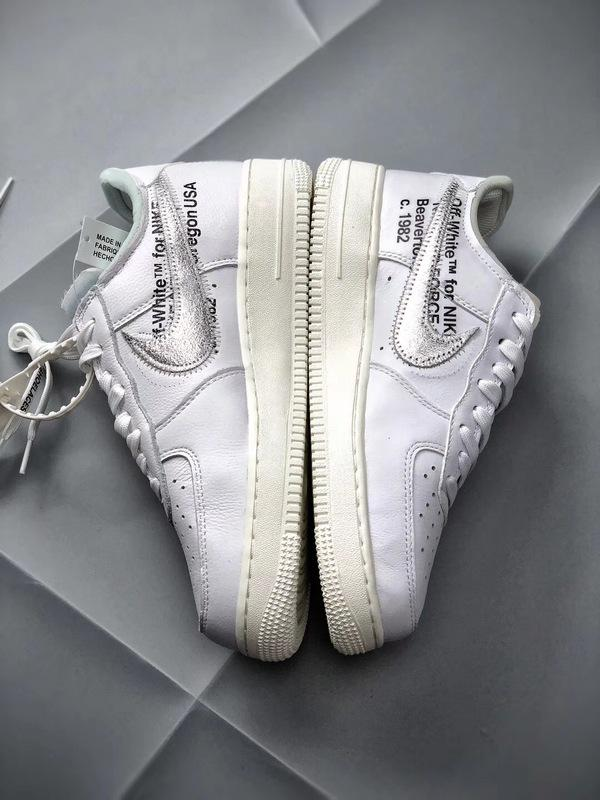 MoMA Virgil Nike Air Force 1 07 Off White Low White Metallic Silver Version Sale yeezysell.ru
