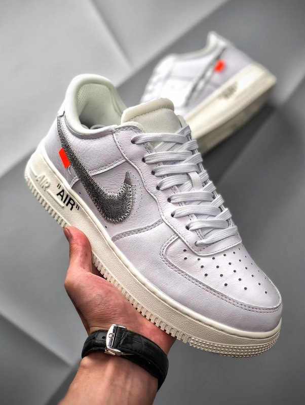 MoMA Virgil Air Force 1 07 Off-White Low White Metallic Silver Version Sale
