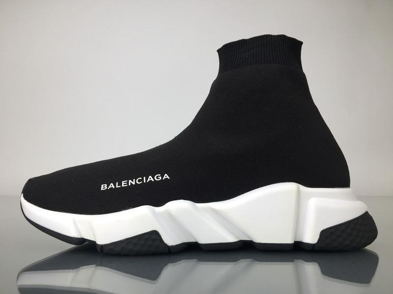 Balenciaga Speed Runner High Top Sneaker White Black In Stock