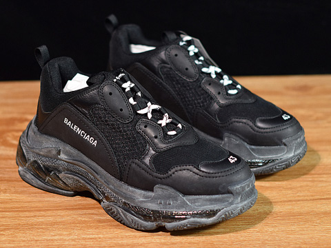 Balenciaga 19SS Triple S Clear Sole Trainers Black Perfect Version Released