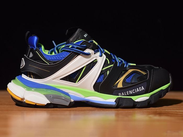 Balenciaga Exclusive Paris Track Sneakers Green Blue Best Version