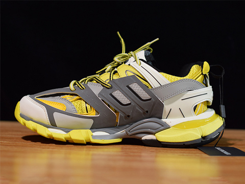 Balenciaga Exclusive Paris Track Sneakers Yellow Best Version Released