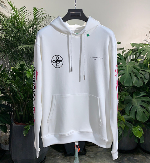 Off White 19SS Diag Stencil Hoodie Hooded Sweatshirt High Quality Released