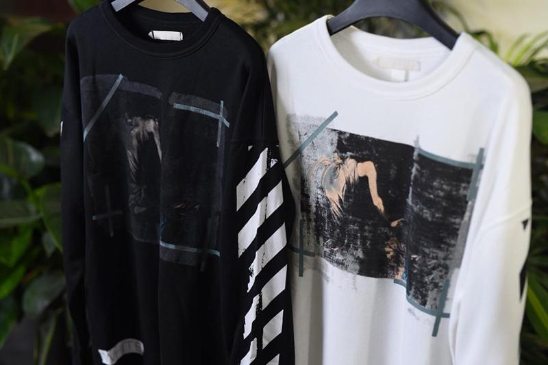 Off White 15SS Black White Religion Print Sweatshirt Online Sale