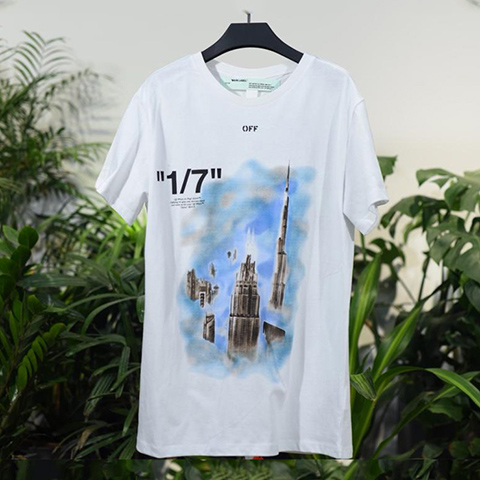 Off White 19SS  Dubai Limited Spray Black Arrows Tshirt Online Sale