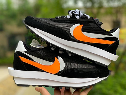 Sacai x LDWaffle Black White Orange Sale
