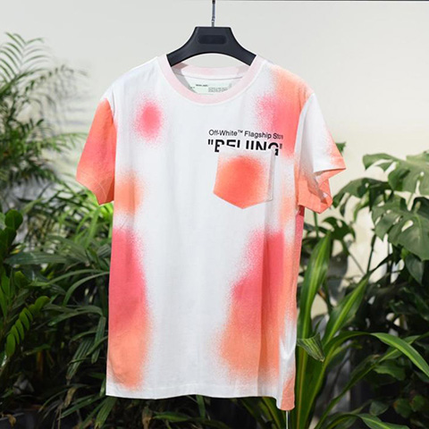 Off-White 18SS Logo Print Bei Jing Tee Shirt Released