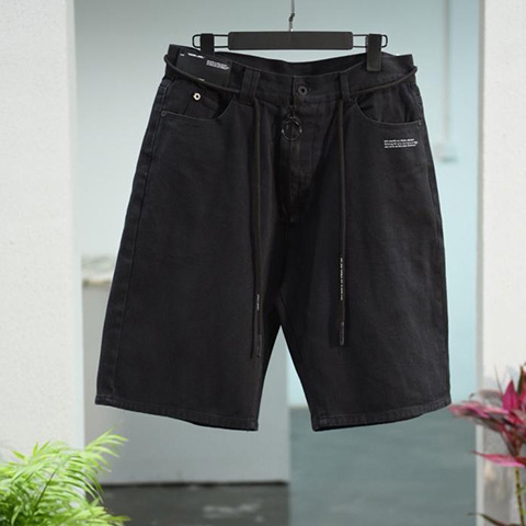 Off White 19SS Black Short Pants Oversize For Sale