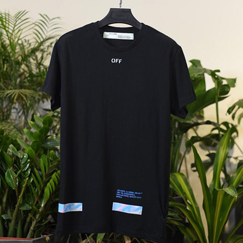 Off-White Manila Arrows Print Black Red Tee Shirt Released