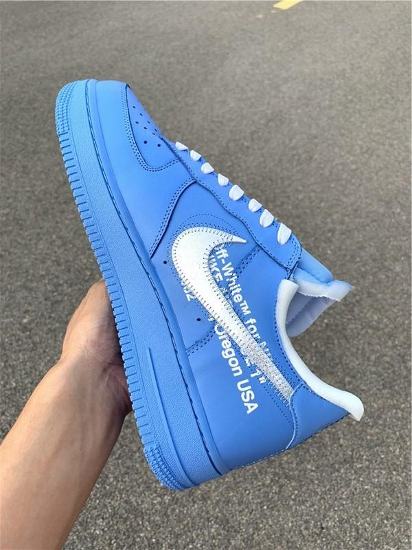 Off-White x Air Force 1 MCA University Blue High Quality Version