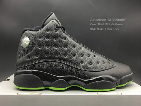 Air Jordan 13 Altitude Black Altitude Green Online Sale