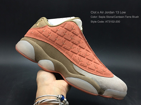 Clot Air Jordan 13 Low Terracotta Blush Red Released