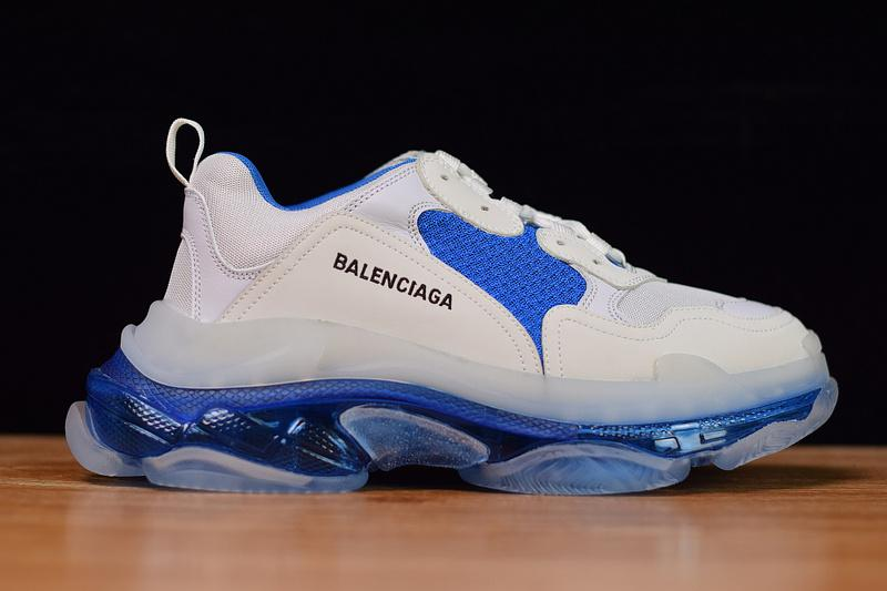 Balenciaga Triple S Trainers White Blue Released