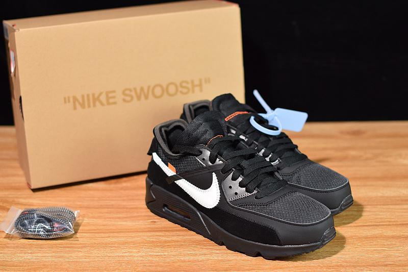 Off-White Air Max 90 Black Released Sale AA7293-001