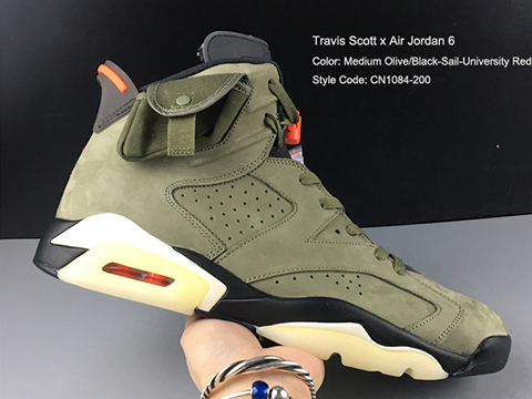 Travis Scott Air Jordan 6 Medium Olive Released Sale Online CN1084-200