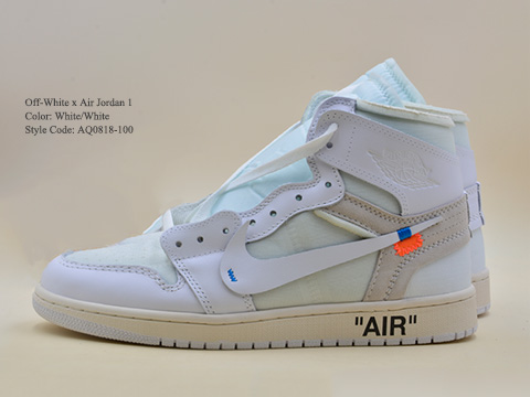 Off-White Air Jordan 1 White Color AQ0818-100
