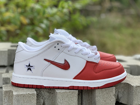 SP x NK SB Dunk Low CK3480-600 White Red