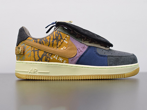 Travis Scott x Air Force 1 CN2405-900 Dark Blue Brown Sale