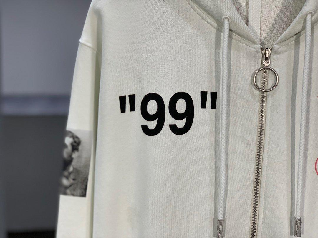 Off-White 19SS Monet Cruise Ship Zipper Hoodie Released