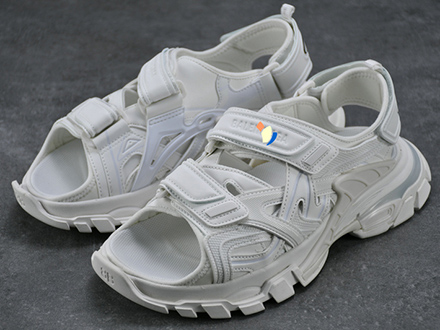 Balen Paris Track Sandal White Sale