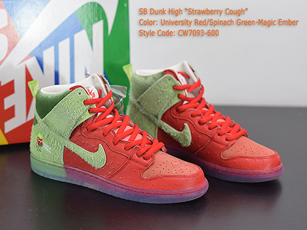 Dunk High SB Strawberry Cough CW7093-600 Released