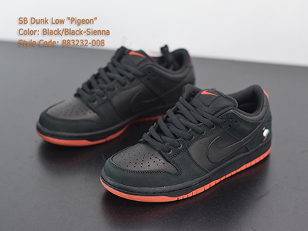 Jeff x Dunk Low Pro SB Black Pigeon 883232-008 Released Sale